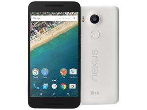 "LG Nexus 5X Unlocked Smart Phone, 5.2"" White Color, 32GB Storage 2GB RAM, US Warranty"