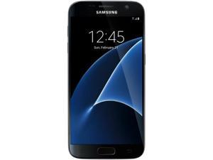"Samsung Galaxy S7 Unlocked Smart Phone, 5.1"" AMOLED Display, Black Color, 32GB Storage 4GB RAM International version - No US Warranty"