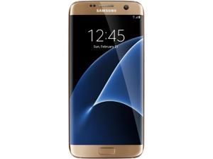 "Samsung Galaxy S7 Edge Unlocked Smart Phone, Dual Edge 5.5"" AMOLED Display, Gold Color, 32GB Storage 4GB RAM International version - No US Warranty"