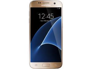 "Samsung Galaxy S7 Unlocked Smart Phone, 5.1"" AMOLED Display, Gold Color, 32GB Storage 4GB RAM International version - No US Warranty"