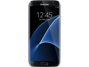 "Samsung Galaxy S7 Edge Unlocked Smart Phone, Dual Edge 5.5"" AMOLED Display, Black Color, 32GB Storage 4GB RAM International version - No US Warranty"