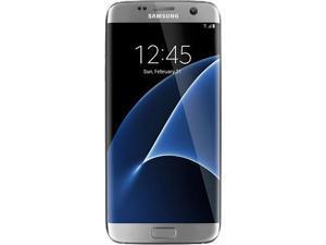 "Samsung Galaxy S7 Edge Dual SIM Unlocked Smart Phone, Dual Edge 5.5"" AMOLED Display, silver Color, 32GB Storage 4GB RAM ..."