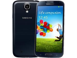Samsung Galaxy S4 Black Bundle w/ Flip Cover + 32GB MicroSD Card + 32GB MicroSD Card + $35 Month of Service