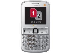 Samsung Ch@t 222 E2222 Silver Unlocked GSM Dual SIM Cell Phone