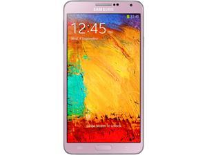 Samsung Galaxy Note 3 N9000 Pink 3G Quad-core 1.9 GHz Cortex-A15 & quad-core 1.3 GHz Cortex-A7 Unlocked Cell Phone