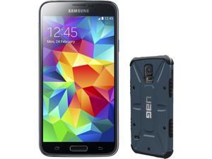 Samsung Galaxy S5 Charcoal Black 3G Quad-Core 2.5GHz Unlocked GSM Phone + UAG Slate Case for Samsung Galaxy S5