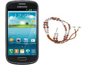 Samsung Galaxy S3 Mini I8200 Black Dual-Core 1.2GHz Unlocked Cell Phone + HandCandy - The SAMSARA Bundle