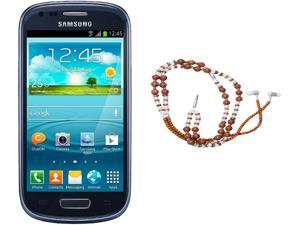 Samsung Galaxy S3 Mini I8200 Blue Unlocked Cell Phone + HandCandy - The SAMSARA Bundle