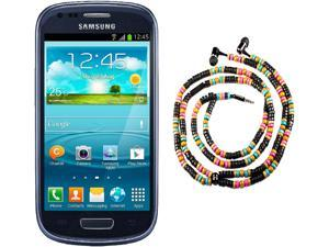 Samsung Galaxy S3 Mini I8200 Blue Dual-Core 1.2GHz Unlocked Cell Phone + HandCandy - The WAIMEA Bundle