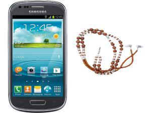 Samsung Galaxy S3 Mini I8200 Gray Dual-Core 1.2GHz Unlocked Cell Phone + HandCandy - The SAMSARA Bundle