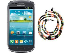 Samsung Galaxy S3 Mini I8200 Gray Dual-Core 1.2GHz Unlocked Cell Phone + HandCandy - The WAIMEA Bundle