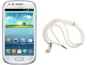 Samsung Galaxy S3 Mini I8200 White Dual-Core 1.2GHz Unlocked Cell Phone + HandCandy - The COURTNEY Bundle