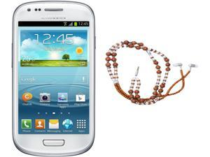Samsung Galaxy S3 Mini I8200 White Dual-Core 1.2GHz Unlocked Cell Phone + HandCandy - The SAMSARA Bundle