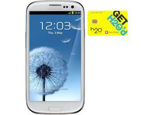 Samsung Galaxy S III I747 White 16GB 4G LTE Android Phone + H2O $50 SIM Card