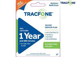 400 Minute Tracfone Airtime PIN Card with 365 Days of Service