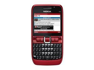 Nokia E63 Red 3G Unlocked GSM Smart Phone with Full Qwerty Keyboard