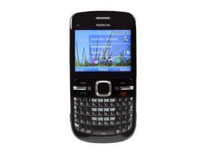 Nokia C3-00 Black Unlocked GSM Smart Phone w/ Full QWERTY Keyboard / Wi-Fi (C3-00)