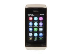 "Nokia Asha 306 White Unlocked GSM Touch Screen Smart Phone with Wi-Fi / Bluetooth / 2 MP Camera / 3.0"" Display"