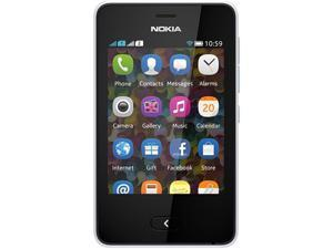 Nokia Asha 501 White Unlocked GSM Touchscreen Cell Phone
