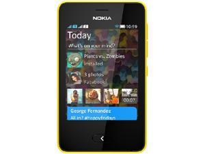 Nokia Asha 501 Yellow Unlocked GSM Touchscreen Cell Phone