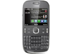 "Nokia Asha 302 Dark Grey 3G Unlocked GSM QWERTY Smart Phone with Wi-Fi / Bluetooth / 3.2 MP Camera / 2.4"" Display"