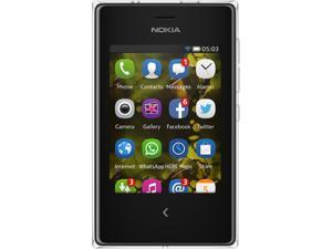 Nokia Asha 503 White/Black Unlocked GSM Cell Phone