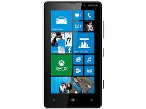 Nokia Lumia 820 RM-824 White 3G 4G LTE Dual-Core 1.5GHz Unlocked GSM 4G LTE Windows 8 OS Cell Phone