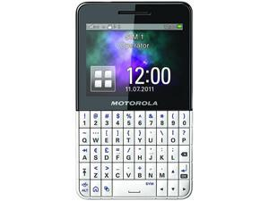Motorola EX223 White / Black Unlocked GSM Dual SIM Cell Phone