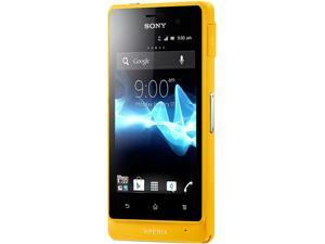 Sony Xperia advance ST27a Yellow 3G Dual-Core 1.0GHz Touch Screen 5.0 MP Camera Unlocked GSM Smart Phone