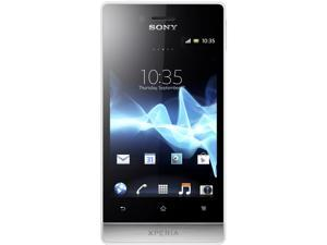 Sony Xperia miro ST23a White 3G Single-Core 800MHz Unlocked Cell Phone
