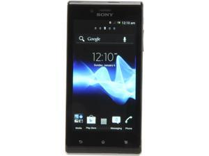 Sony Xperia J ST26a Black 3G 1.0GHz Android 4.0 Touch Screen 5.0 MP Camera Unlocked GSM Smart Phone