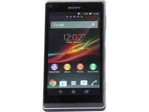 "Sony Xperia L C2104 8 GB, 1 GB RAM Unlocked Cell Phone 4.3"" Black"