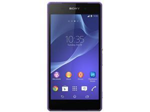 Sony Xperia Z2 LTE D6503 Purple 3G 4G LTE Quad-Core 2.3GHz Unlocked Cell Phone