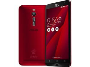 "Asus Zenfone 2 - Red (ZE551ML-23-4G64GN-RD), 5.5"", Intel 2.3GHz, 4G Ram, 64GB Storage, North America Warranty"