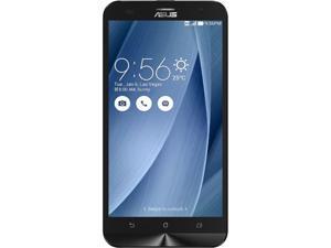 "Asus Zenfone 2 Laser Unlocked Smart Phone, 5.5"" Silver, 16GB Storage 3GB RAM, US Warranty"