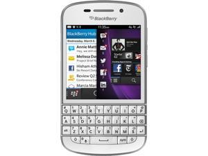 BlackBerry Q10 White 3G 4G LTE Dual-Core 1.5GHz 16GB Unlocked Cell Phone
