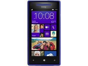 HTC Windows Phone 8X Blue 3G 4G LTE Dual-Core 1.5GHz 8GB Unlocked Cell Phone