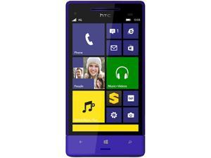 HTC 8XT Blue LTE Dual-Core 1.4GHz Sprint CDMA Windows 8 Cell Phone
