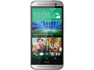 HTC M8X model One M8 Silver 4G LTE 16GB Unlocked GSM Android Cell Phone EMEA Version