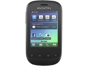 Alcatel OT-720D Black Single-Core 104MHz Unlocked Dual SIM Cell Phone