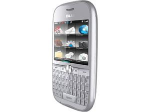 Blu Deco Pro Q360 Silver Touch Screen QWERTY Keyboard Wi-Fi 3.2 MP Camera Bluetooth Dual-SIM Unlocked GSM Cell Phone