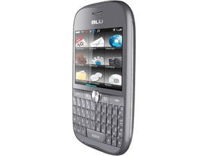 Blu Deco Pro Q360 Gray Touch Screen Qwerty Keyboard Wi-Fi 3.2 MP Camera Bluetooth Dual-SIM Unlocked GSM Cell Phone