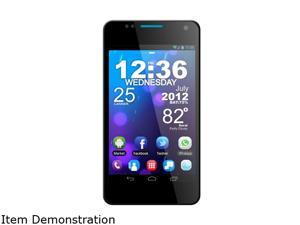 "BLU Vivo 4.3 Black Unlocked Phone w/ 4.3"" Super AMOLED Plus Display / Dual SIM 3G 850/2100 / Dual Core 1GHz Processor / Android ..."