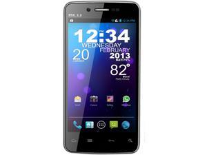 Blu Quattro 4.5 HD D450 Black Quad-Core 1.5GHz Super IPS LCD2 Touch Screen 8.0 MP Camera 16GB Unlocked GSM Smart Phone