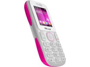 Blu Tank T190 White / Pink Unlocked Dual SIM Cell Phone