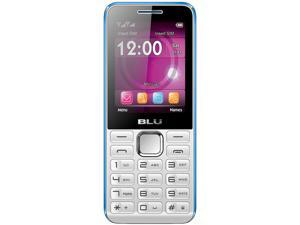 Blu Tank II TI93 White/Blue Unlocked GSM Dual-SIM Cell Phone