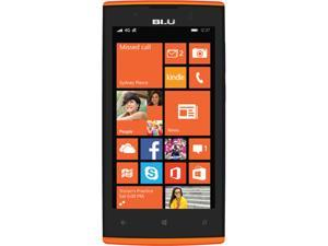 Blu Win JR LTE X130Q Orange Unlocked GSM Windows OS Phone