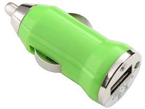 Insten 1354732 Green Universal USB Mini Car Charger Adapter Compatible with Cell phone devices