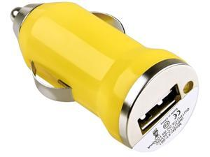 Insten 1475290 Yellow Universal USB Mini Car Charger Adapter