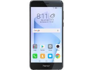 Huawei - Honor 8 Dual Camera Unlocked Smartphone 64GB Midnight Black